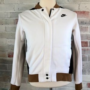 NIKE Tri Color Fashion ZIp Up Sweater Jacket